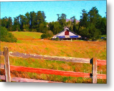 The Old Ranch At Midday Metal Print by Wingsdomain Art and Photography