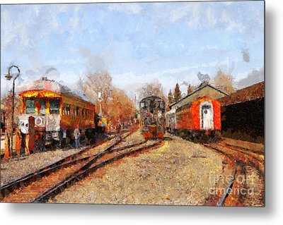 The Old Sacramento Central Train Depot . 7d11513 Metal Print by Wingsdomain Art and Photography