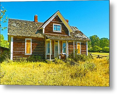 The Old School House Metal Print by Lenore Senior and Dawn Senior-Trask