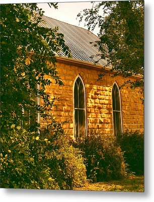 The Old Stone Church Metal Print by Lynne and Don Wright