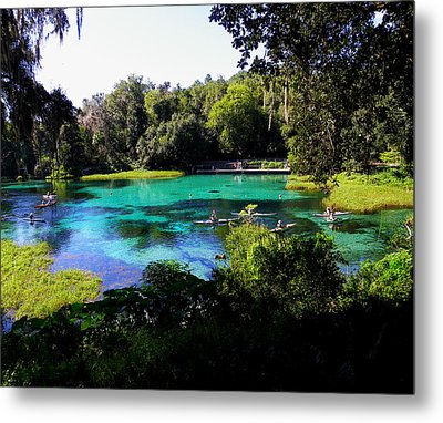 The Old Swimming Hole Metal Print by Judy Wanamaker