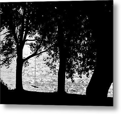 Metal Print featuring the photograph The Old Swing by Mike Flynn