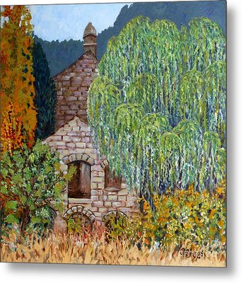 The Old Willow Tree Metal Print by Caroline Street