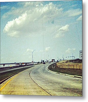The Open Road #notraffic #random #hdr Metal Print by Kel Hill