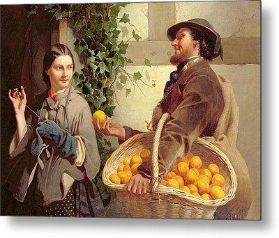 The Orange Seller  Metal Print by William Edward Millner