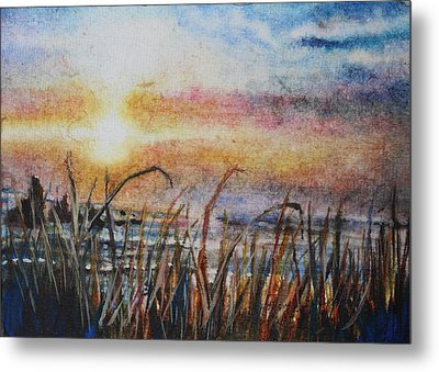 The Oregon Coast At Sunset Metal Print