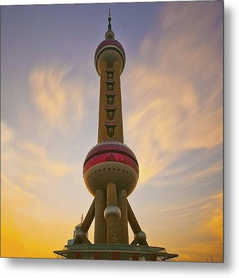 The Oriental Pearl Tv Tower, Shanghai Metal Print by Tommy Tjahjono