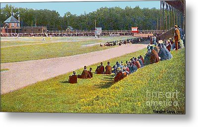 The Oval Baseball Park In Worcester Ma In 1908 Metal Print by Dwight Goss