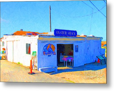 The Oyster Shack At Drakes Bay Oyster Company In Point Reyes . 7d9833 Metal Print by Wingsdomain Art and Photography