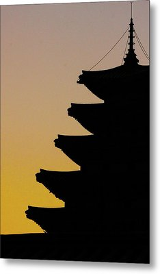 The Pagoda At Gyeongbukgong In Seoul Metal Print by Photography by Simon Bond