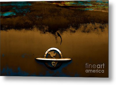 The Paint Of Corrosion  Metal Print by Steven  Digman