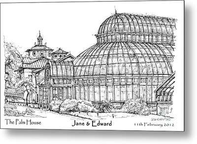 The Palm House For Jane And Edward Metal Print by Building  Art