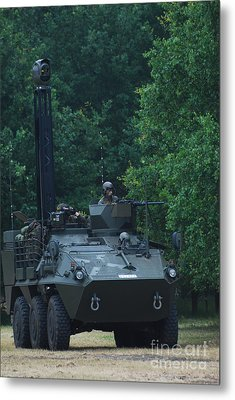 The Pandur Recce Vehicle In Use Metal Print by Luc De Jaeger