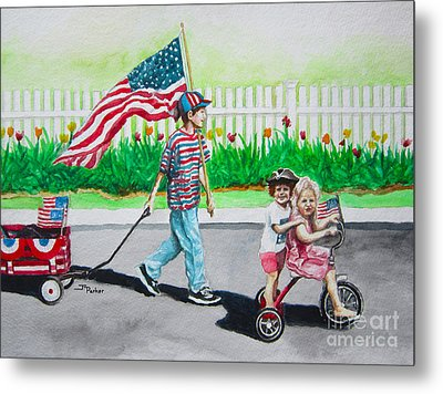 The Parade Metal Print by Parker Jim