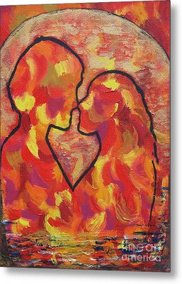 The Passion Of Romance Metal Print by Evolve And Express
