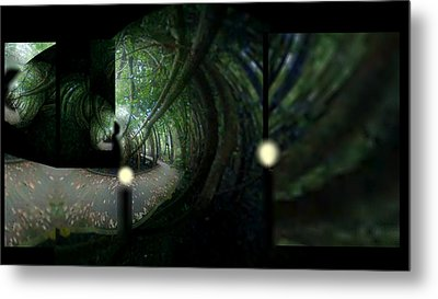Metal Print featuring the mixed media The Path by Rc Rcd
