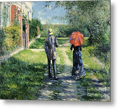 The Path Uphil Metal Print by Gustave Caillebotte
