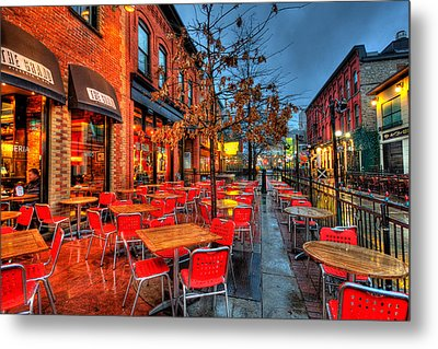 The Patio Metal Print by Andre Faubert