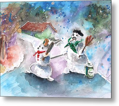 The People From The Troodos Mountains Metal Print by Miki De Goodaboom