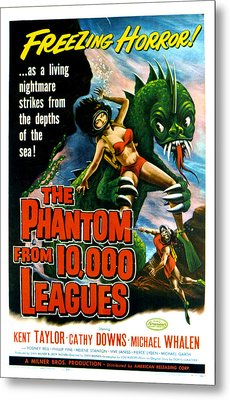 The Phantom From 10,000 Leagues, Poster Metal Print by Everett