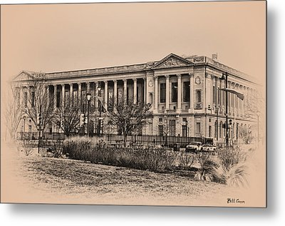 The Philadelphia Free Library Metal Print by Bill Cannon