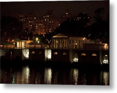 The Philadelphia Waterworks All Lit Up Metal Print by Bill Cannon