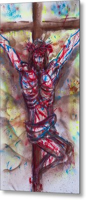 The Physical Death Of Jesus Metal Print by Thomas Lentz