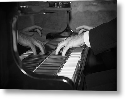 The Pianist Metal Print by Paul Huchton