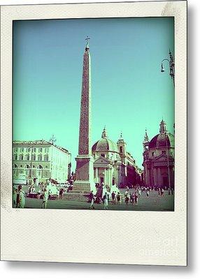 The Piazza Del Popolo. Rome Metal Print by Bernard Jaubert