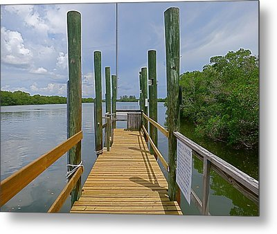 The Pier Metal Print by Blake Yeager
