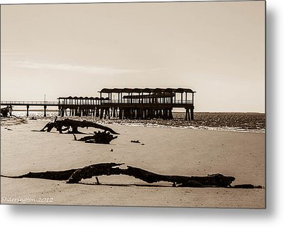 Metal Print featuring the photograph The Pier by Shannon Harrington