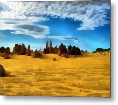 Metal Print featuring the digital art The Pinnacles Nambung National Park by Roberto Gagliardi