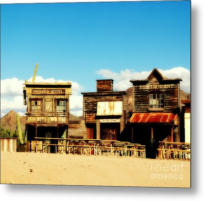 The Pioneer Hotel Old Tuscon Arizona Metal Print by Susanne Van Hulst