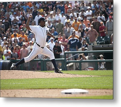 The Pitch Metal Print by Cindy Lindow