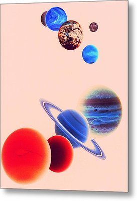The Planets, Excluding Pluto Metal Print by Digital Vision.