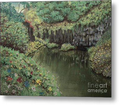 The Pond Metal Print by Jim Barber Hove