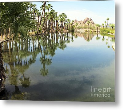 Metal Print featuring the photograph The Pond by Leslie Hunziker
