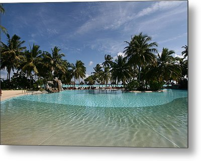 The Pool By The Sea Metal Print