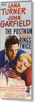 The Postman Always Rings Twice, John Metal Print