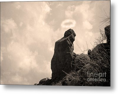 The Praying Monk With Halo - Camelback Mountain Metal Print by James BO  Insogna