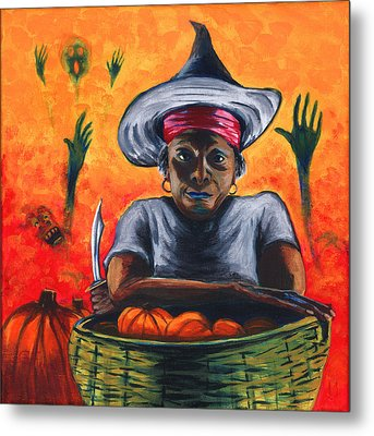 The Pumpkin Vendor  Metal Print