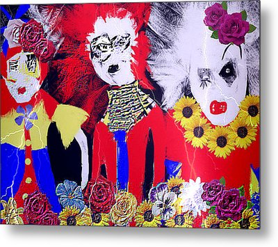 Metal Print featuring the drawing 'the Punks 'come Out To Play by Rc Rcd