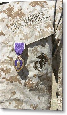 The Purple Heart Award Hangs Metal Print by Stocktrek Images
