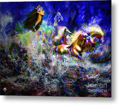 The Queen In Southern Sea Metal Print by Vidka Art