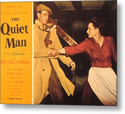 The Quiet Man, John Wayne, Maureen Metal Print by Everett