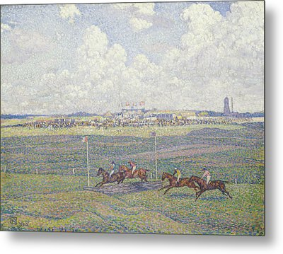 The Racecourse At Boulogne-sur-mer Metal Print by Theo van Rysselberghe