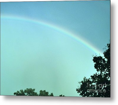 The Rainbow Is A Sign Metal Print by Marsha Heiken