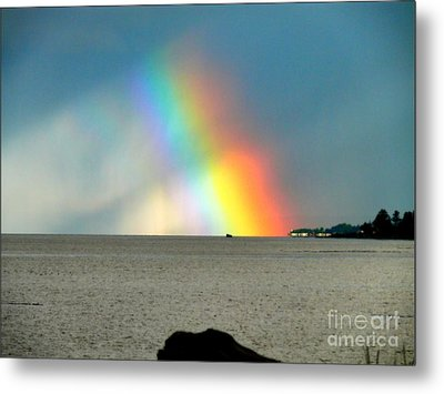 The Rainbow's Edge Metal Print