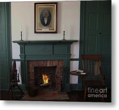The Rankin Home Fireplace Metal Print by Charles Robinson