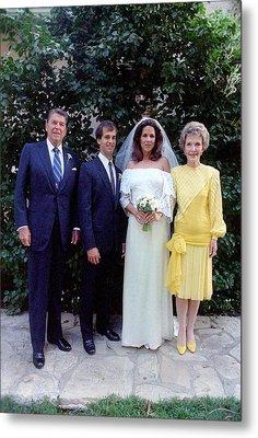 The Reagan Family At Patti Daviss Metal Print by Everett